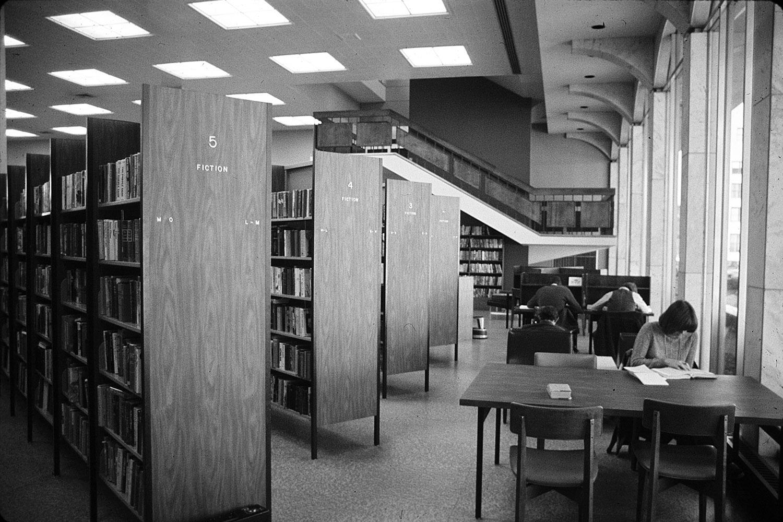 View toward monumental stair circa 1970 Nashville Public Library Archives}