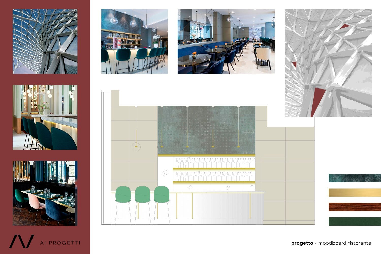 Restaurant moodboard and photos AI Progetti}