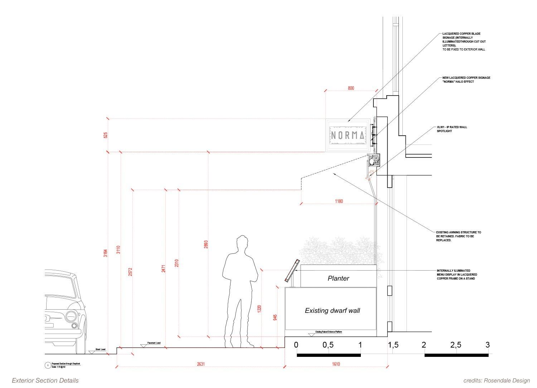 Exterior Section Details Rosendale Design}