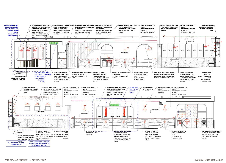 Internal Elevation - Ground Floor Rosendale Design}