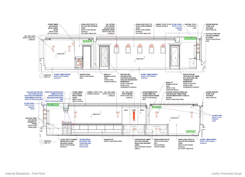 Internal Elevation - First Floor Rosendale Design}