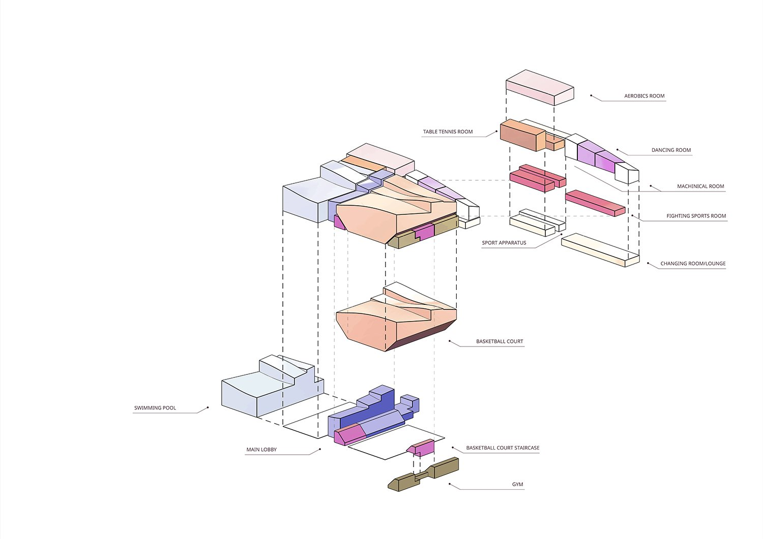 Program Stacking Diagram Atelier Alter Architects}