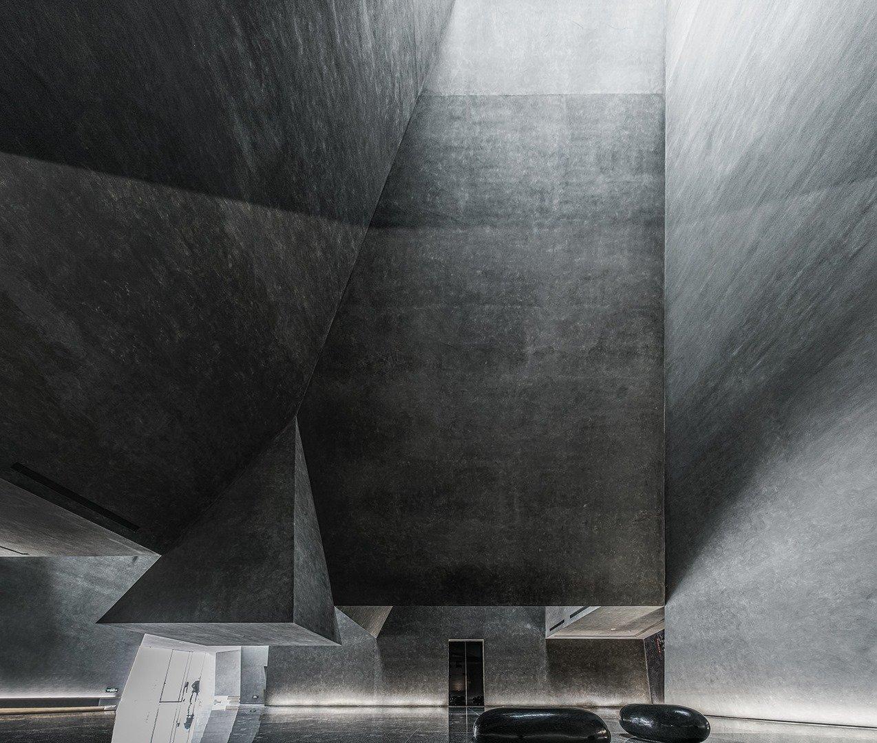 Atrium with skylight Atelier Alter Architects