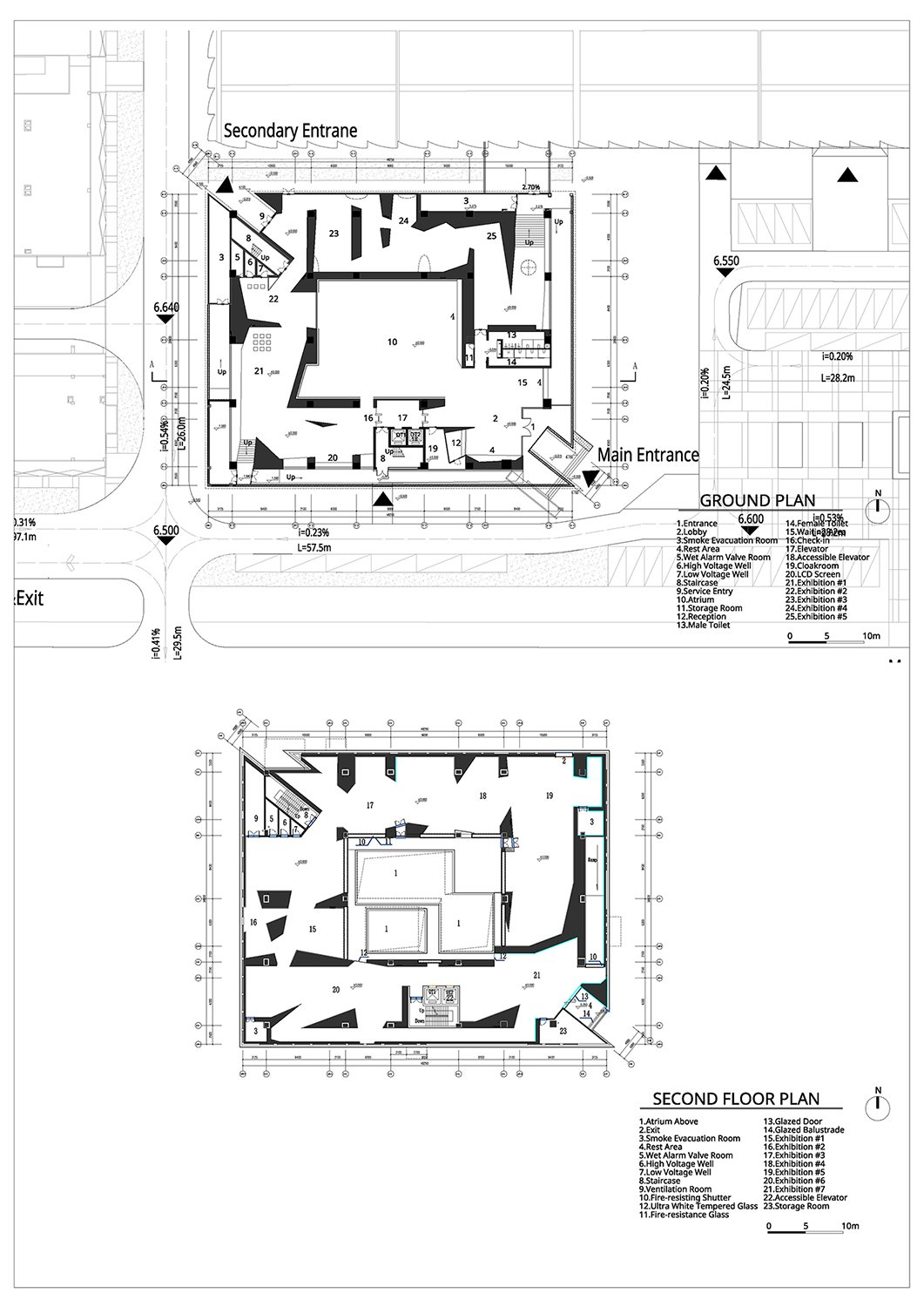 Ground Plan and Second Floor Plan Atelier Alter Architects}