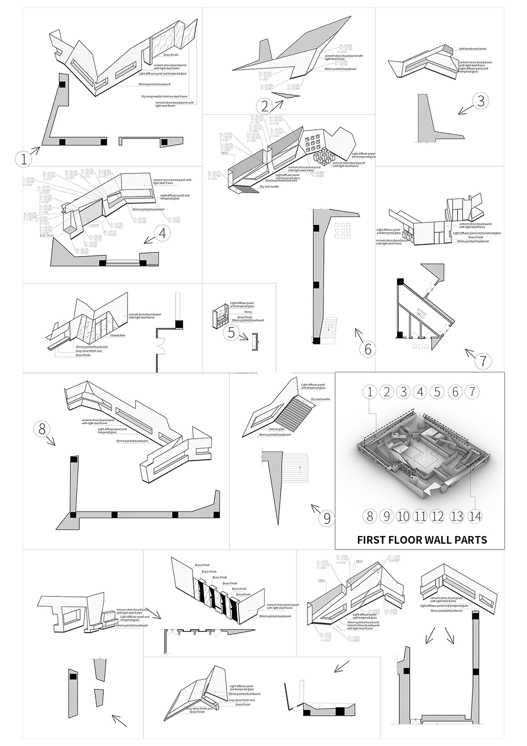 First Floor Wall Parts Atelier Alter Architects}