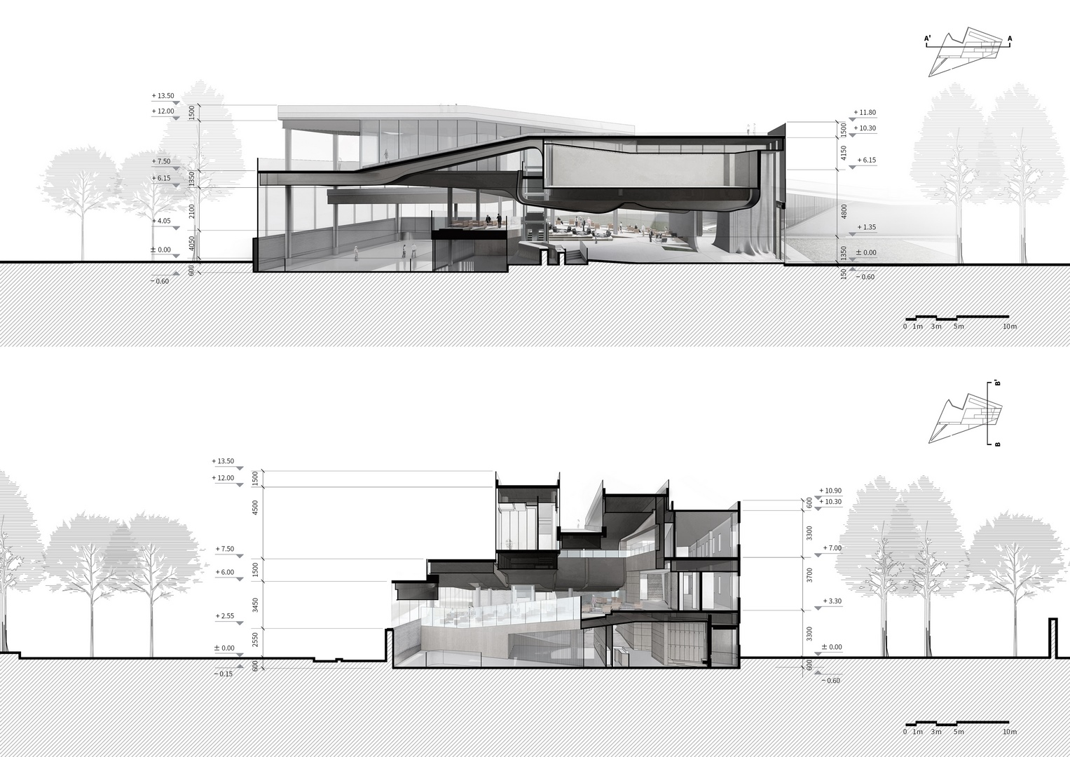 Section A-A' and Section B-B' Atelier Alter Architects}