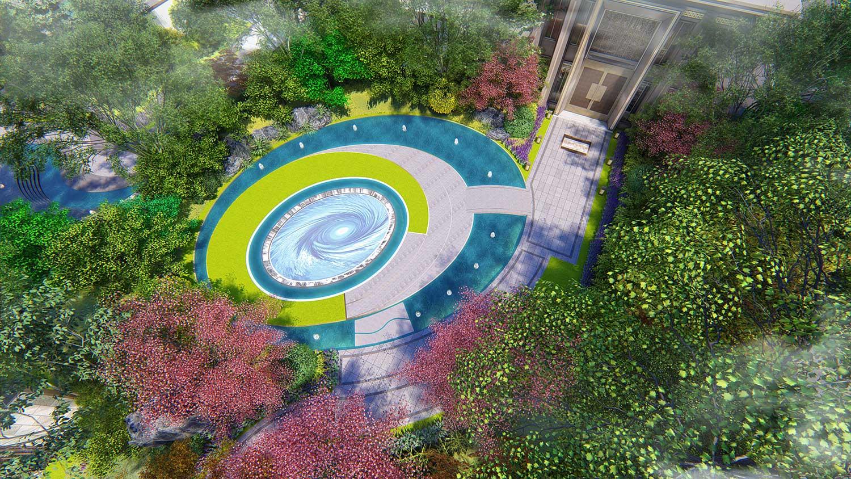 Shanghai Laurent Landscape Design Co Ltd Qingdao Shimao Shine Times Chinese Aesthetics In The Global Background