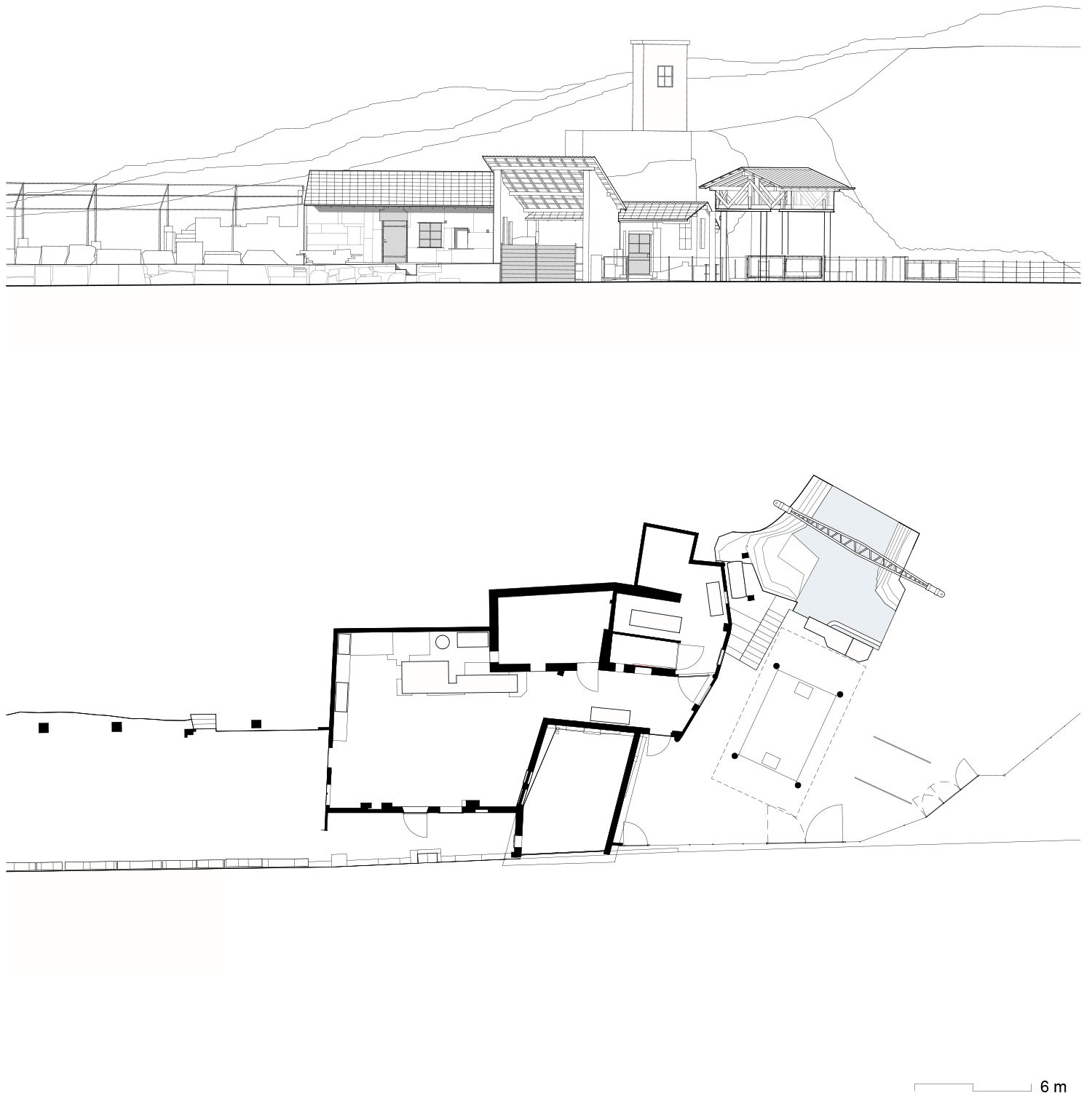Quarry Workshop_existing situation Enrico Sassi Architetto}