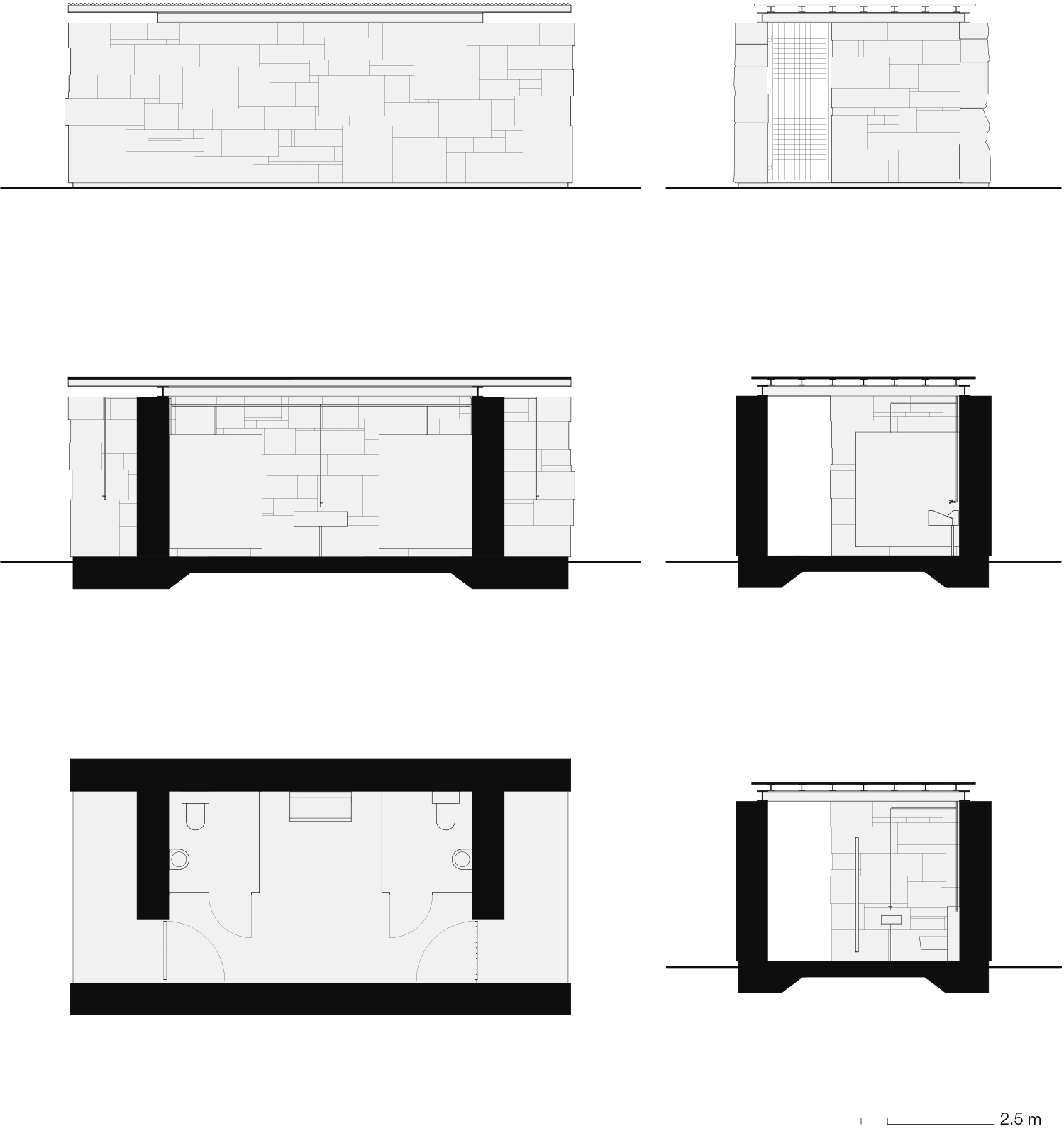 public conveniences Enrico Sassi Architetto}