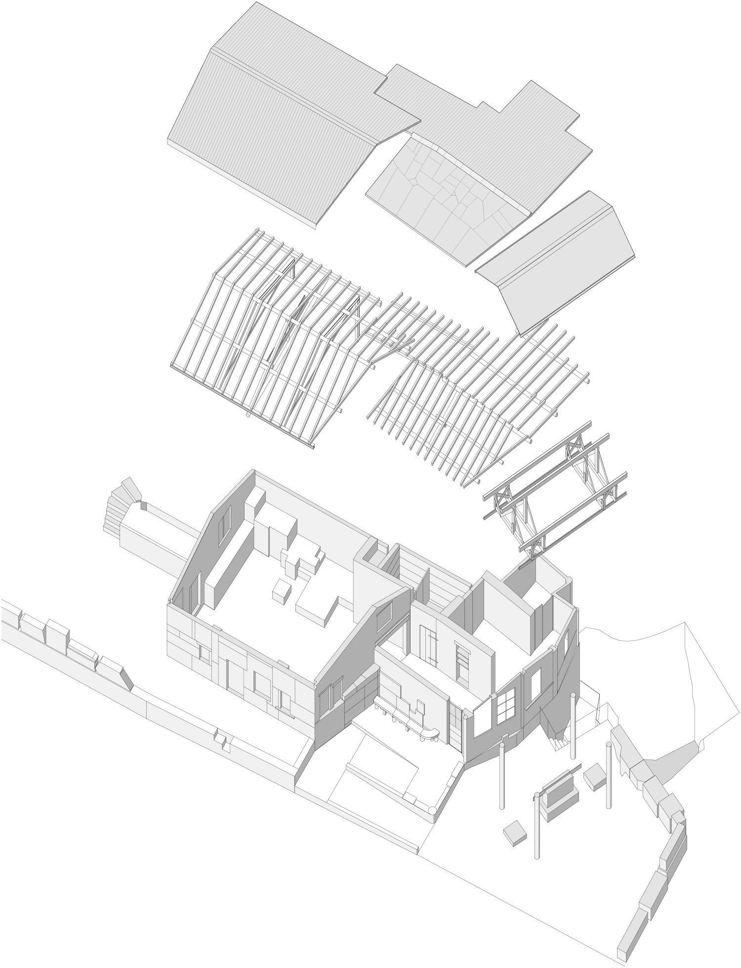 Quarry Workshop_axonometry Enrico Sassi Architetto}