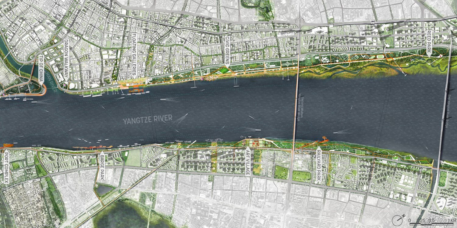 YANGTZE RIVERFRONT PARK MASTER PLAN: Wuhan, central China's largest city, is reenvisioning its riverfront to accept floodwaters and embrace them as a driving force in shaping its public realm. SASAKI