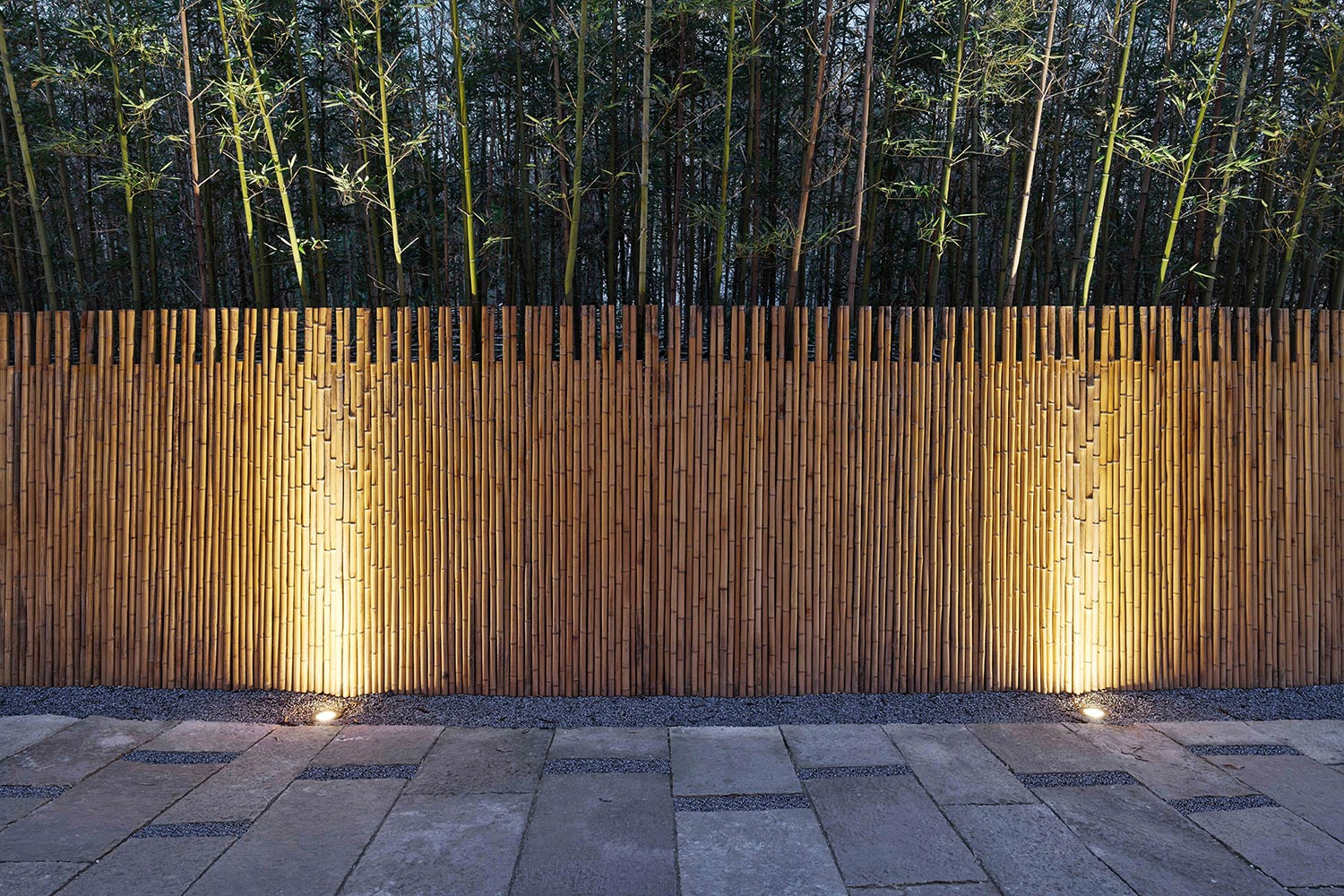 usage of old slate and bamboo fence materials Jianzhi-Arch Photography