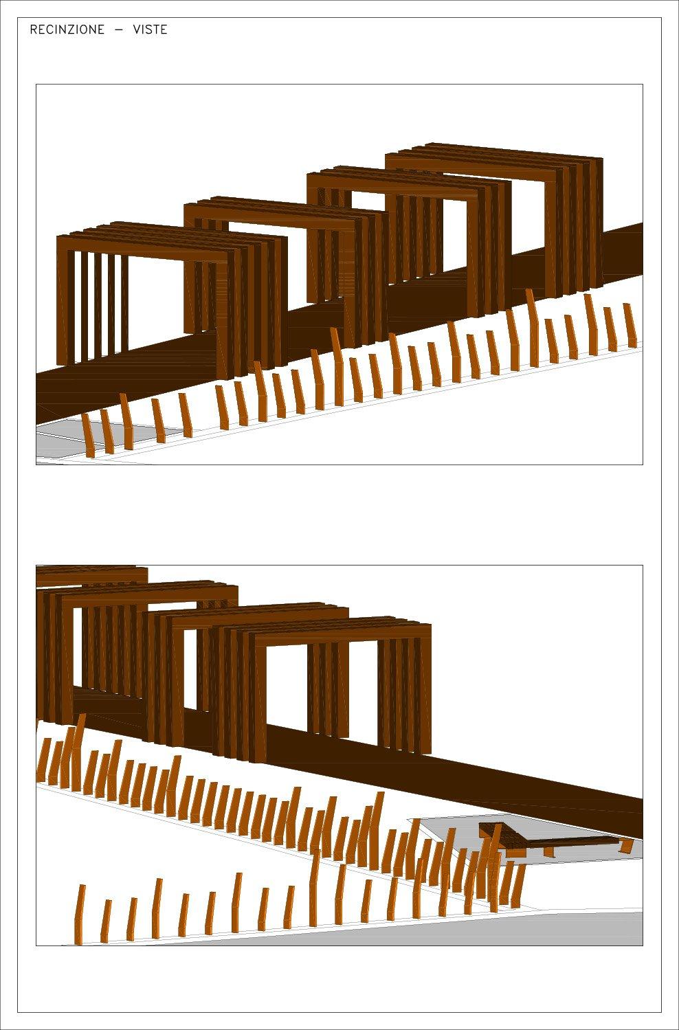 Viste recinzione e portali arch. Fabrizio Cassibba arch. Valentina Careri}