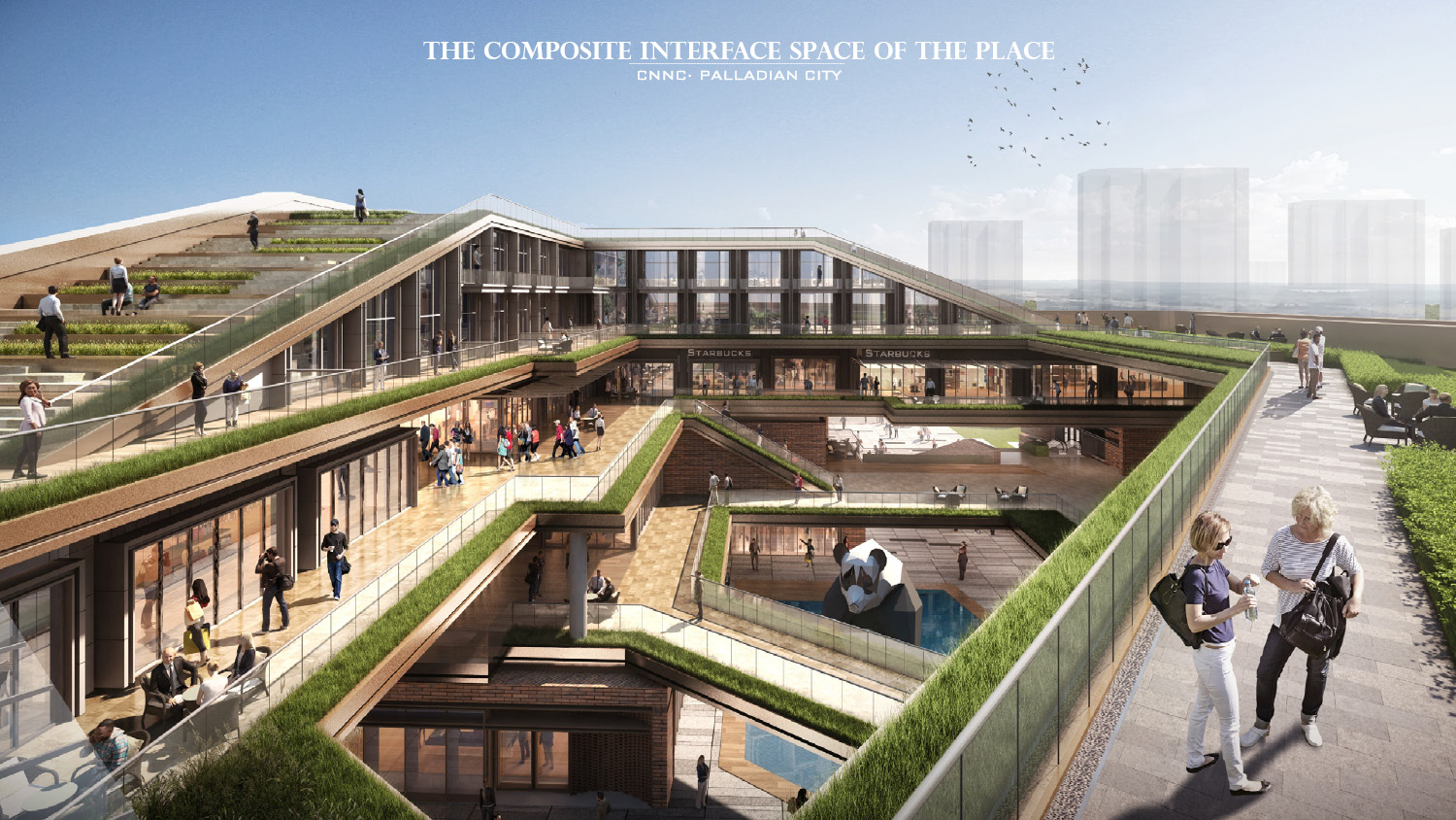 RENDERING - THE COMPOSITE INTERFACE SPACE OF THE PLACE Yan Li