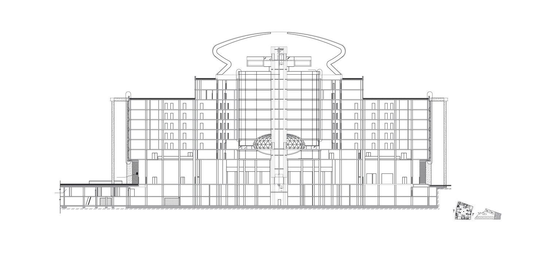 Section Plan, Nevsky Town Hall, Saint Petersburg Tchoban Voss Architekten}
