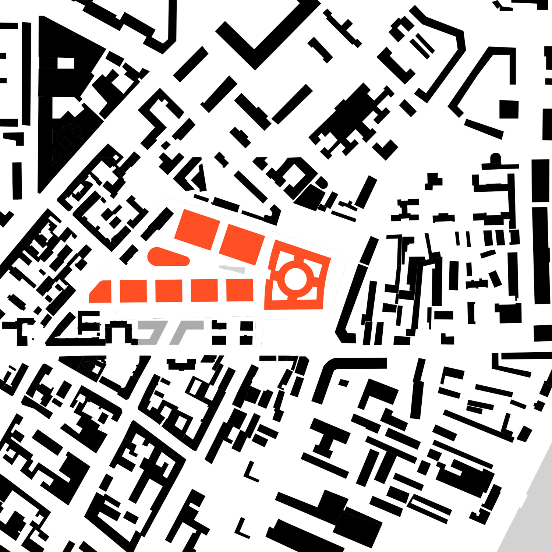 Site-Plan, Nevsky Town Hall, Saint Petersburg Tchoban Voss Architekten}