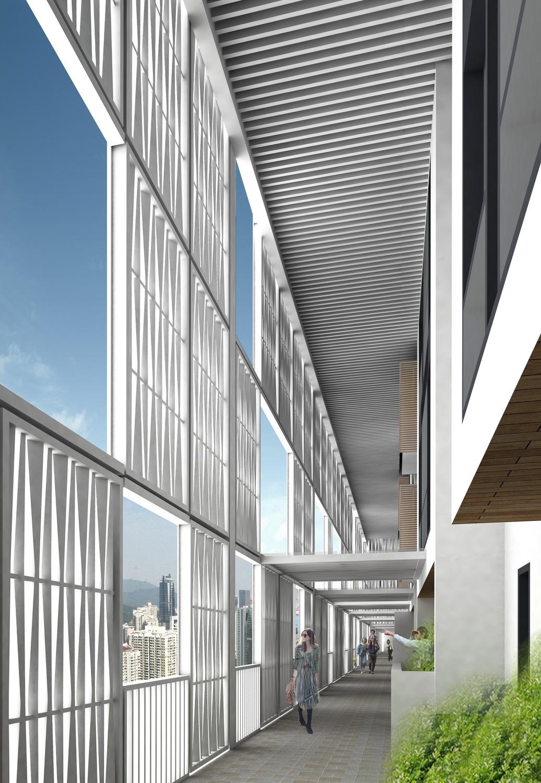 Nine Meters High Corridor in A District 02 ©URBANUS}