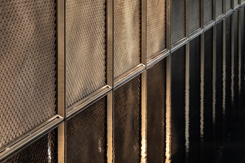 detail of metal door leaf Xi Chen