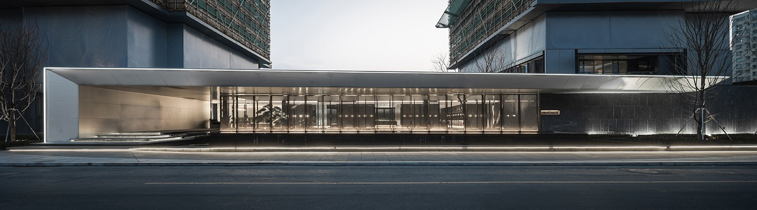 Over-scale cantilevered awning Xi Chen