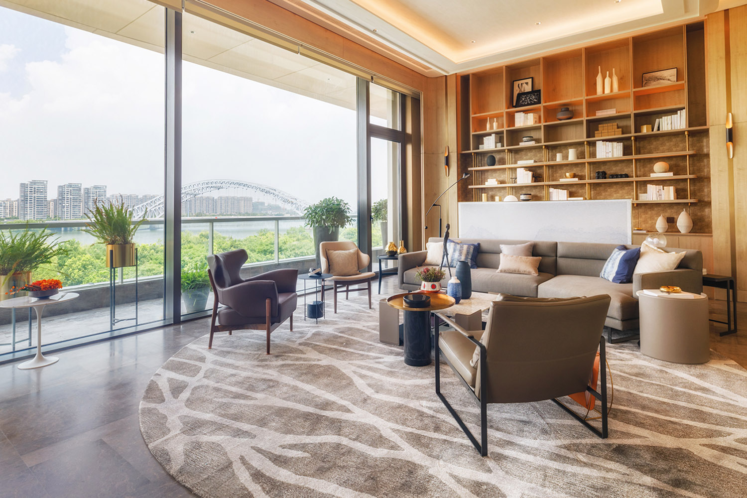 Living room with outdoor river view DC ALLIANCE