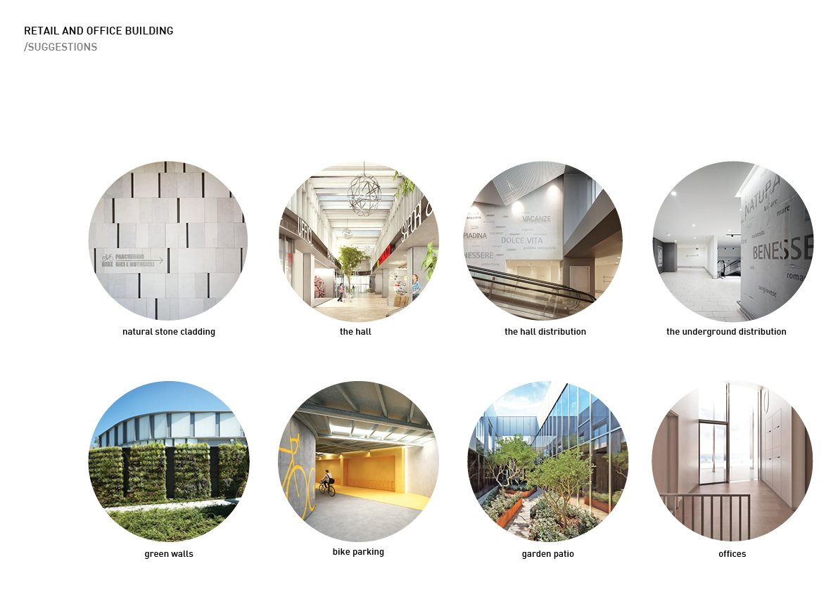 Retail and office building - suggestions Alessandro Bucci Architetti}
