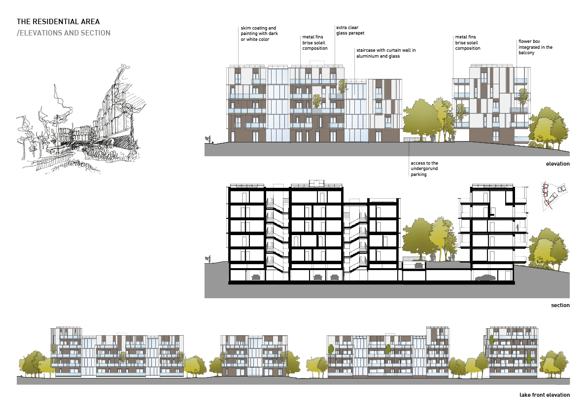 The residential area - elevations and sections Alessandro Bucci Architetti}