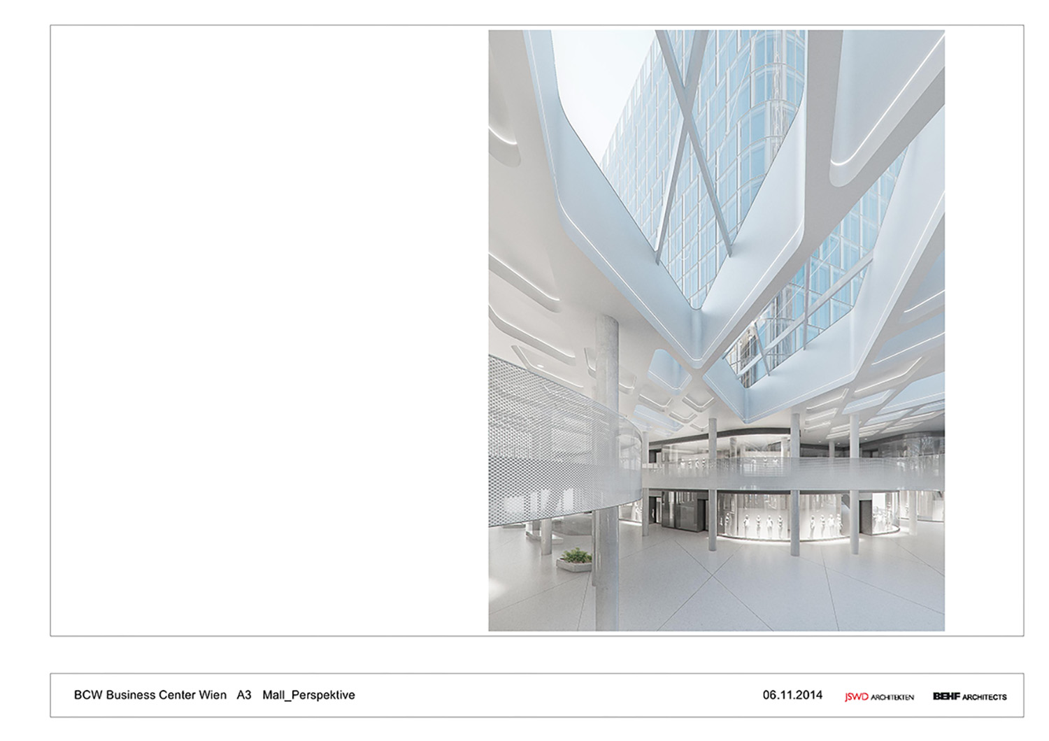 THE ICON / Visualisation Mall Ceiling BEHF Architects}