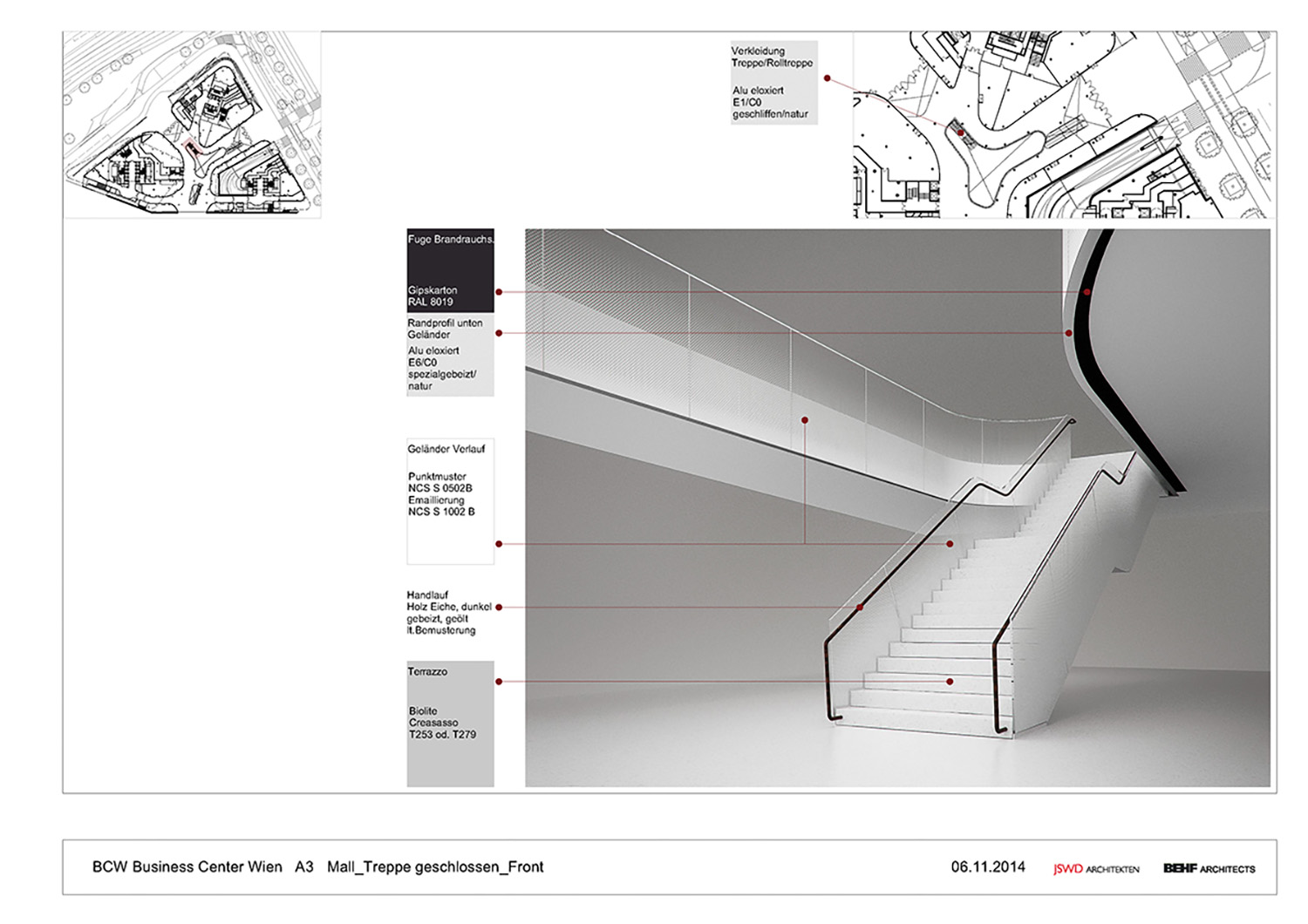 THE ICON / Visualisation Mall stairs (front view) BEHF Architects}