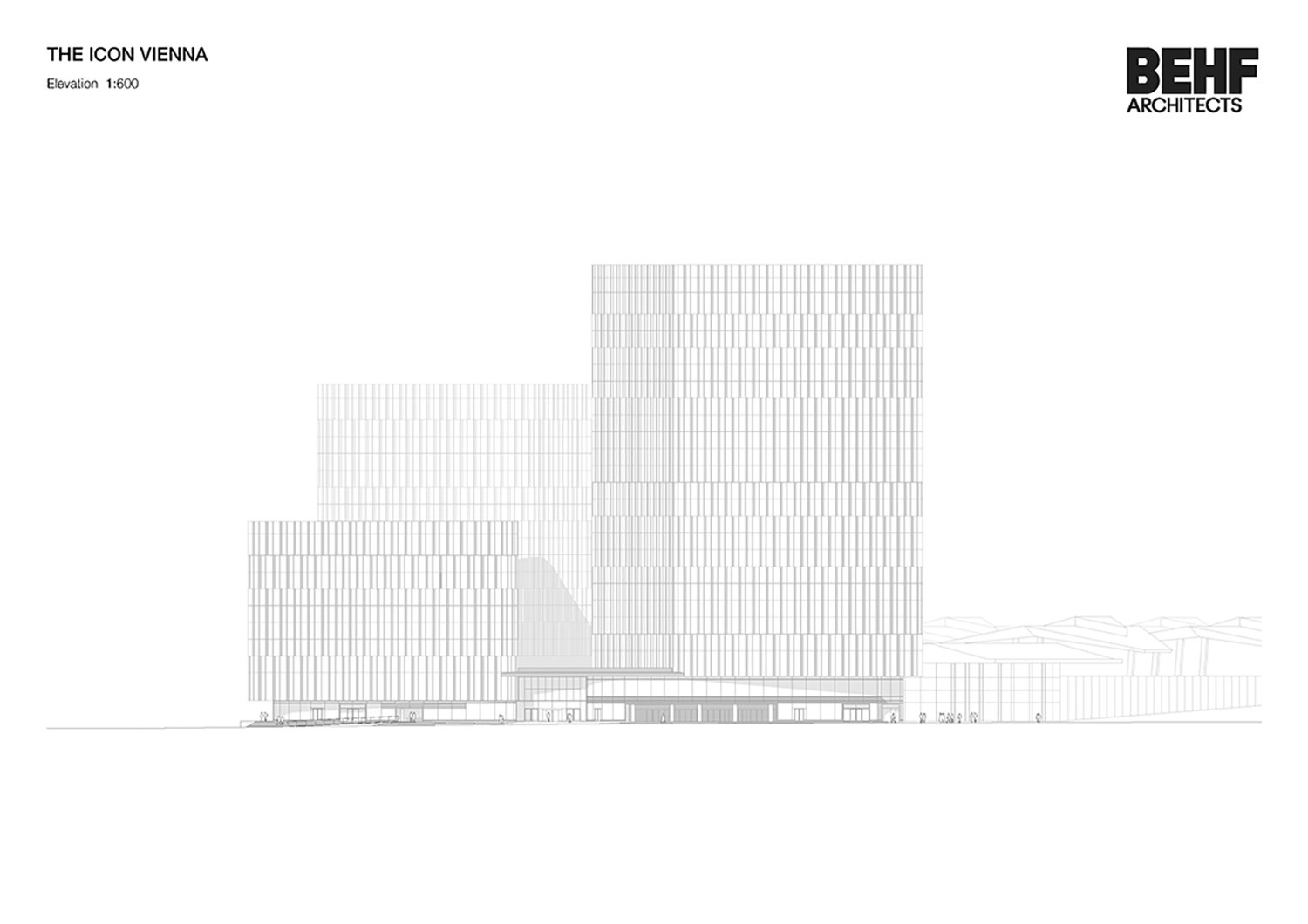 THE ICON / South Elevation BEHF Architects}