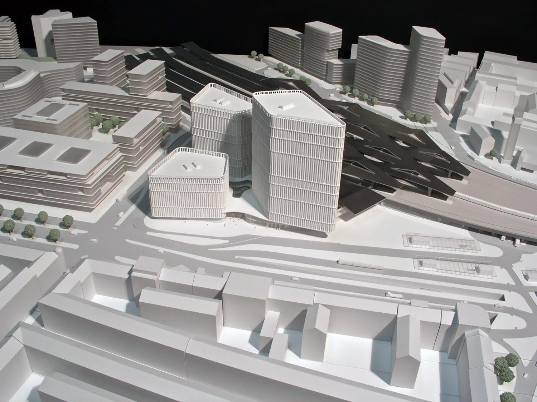 THE ICON / urban planning model BEHF Architects}