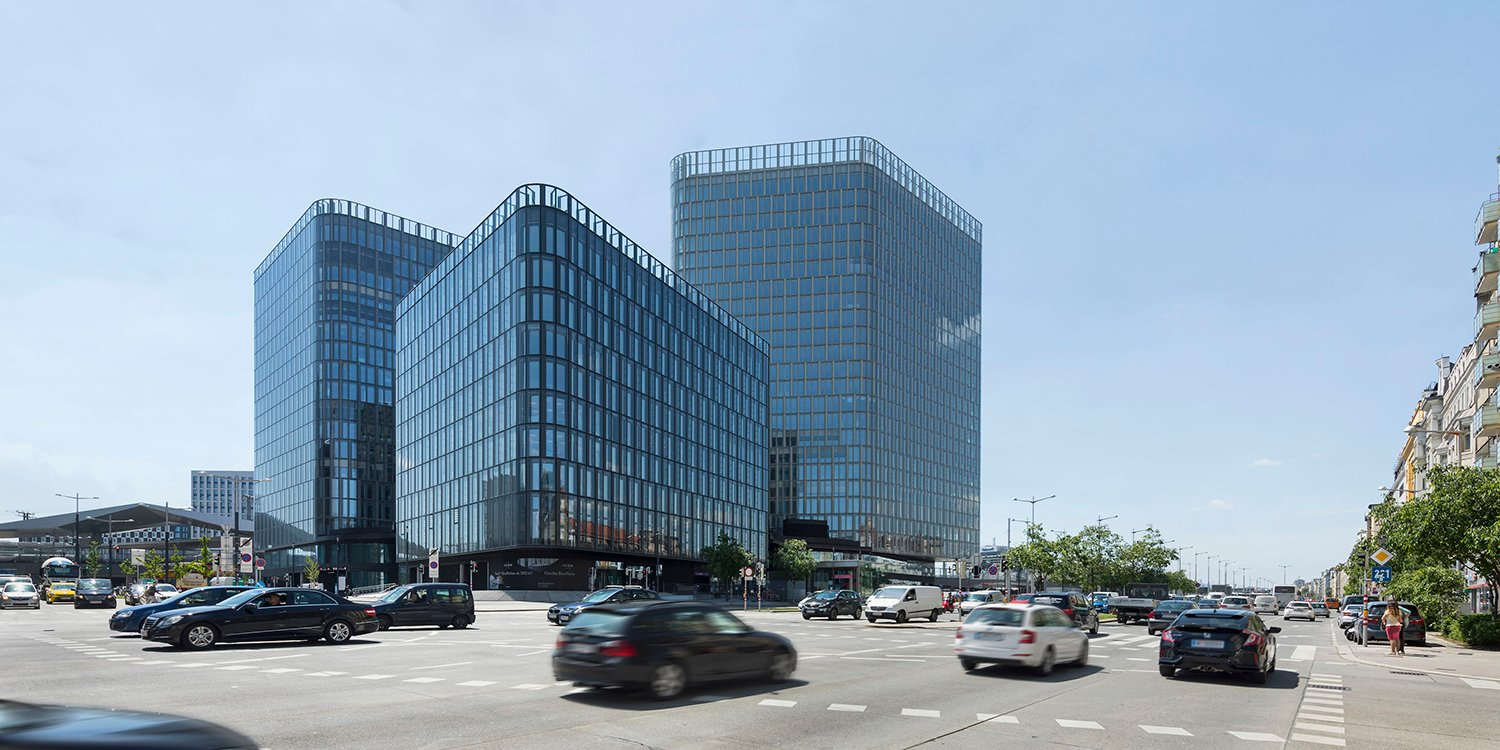 THE ICON Vienna / 1 / three high-rise office towers joined by a common plint Rupert Steiner