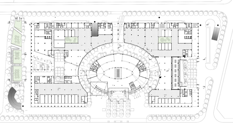 The first floor plan Shenzhen HOOP Architectural Design Co., ltd}