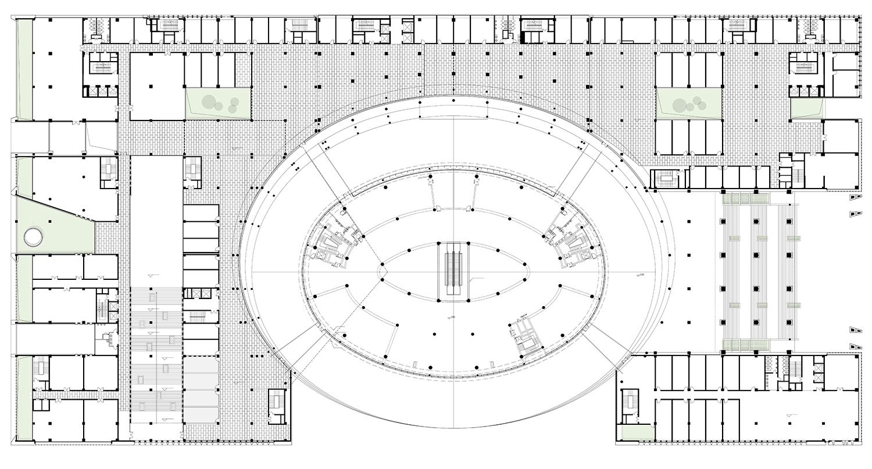 The third floor plan Shenzhen HOOP Architectural Design Co., ltd}