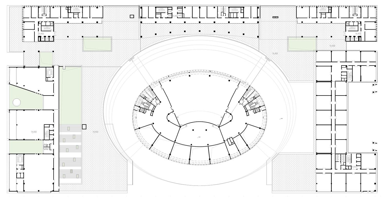 The fourth floor plan Shenzhen HOOP Architectural Design Co., ltd}