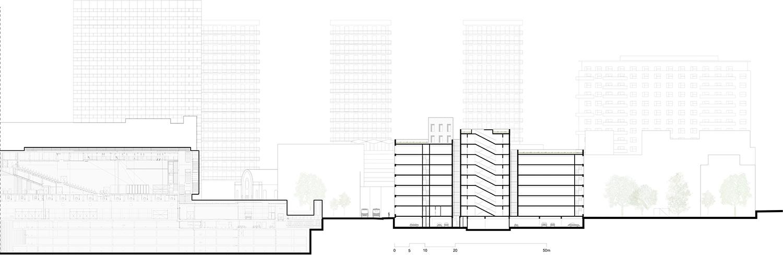 Section Silvio d'Ascia Architecture}