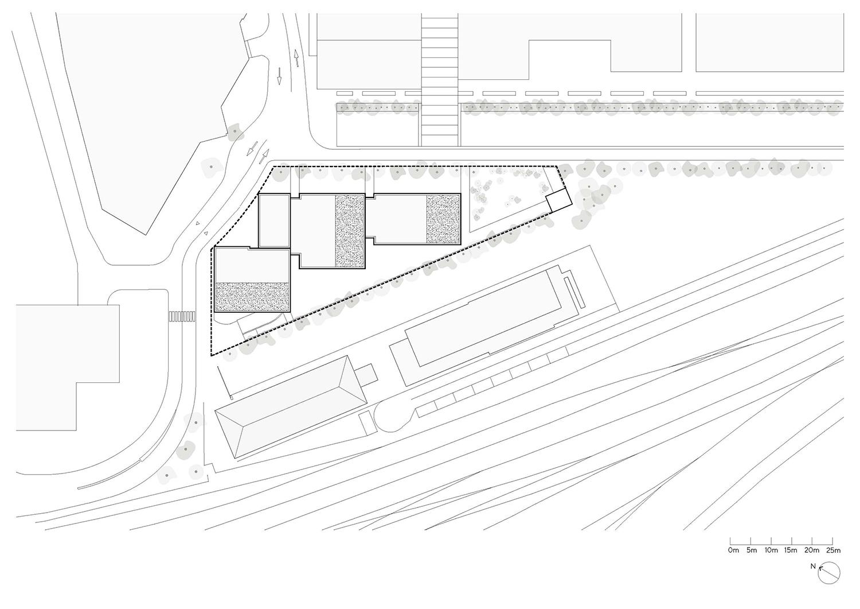 Site plan Silvio d'Ascia Architecture}