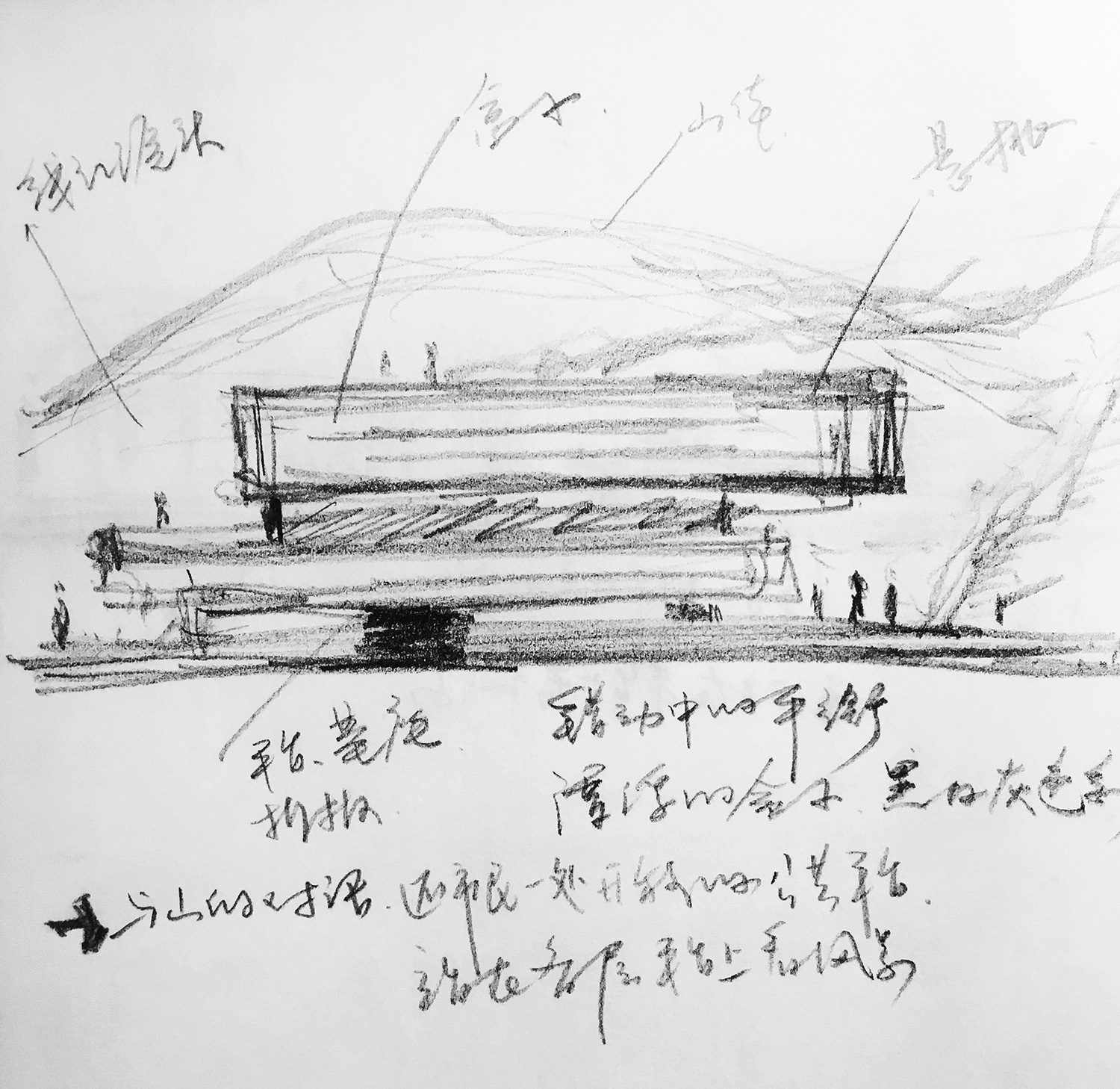 Concept-sketch the Architectural Design and Research Institute of Zhejiang University Co., Ltd}