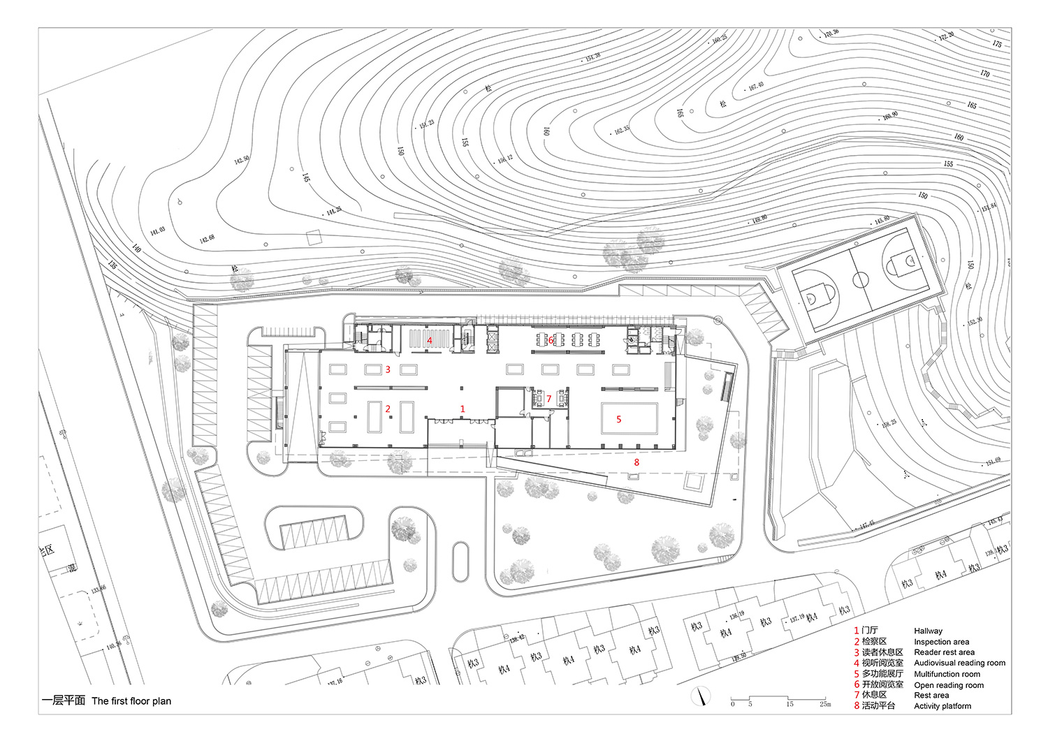 The-first-floor-plan the Architectural Design and Research Institute of Zhejiang University Co., Ltd}