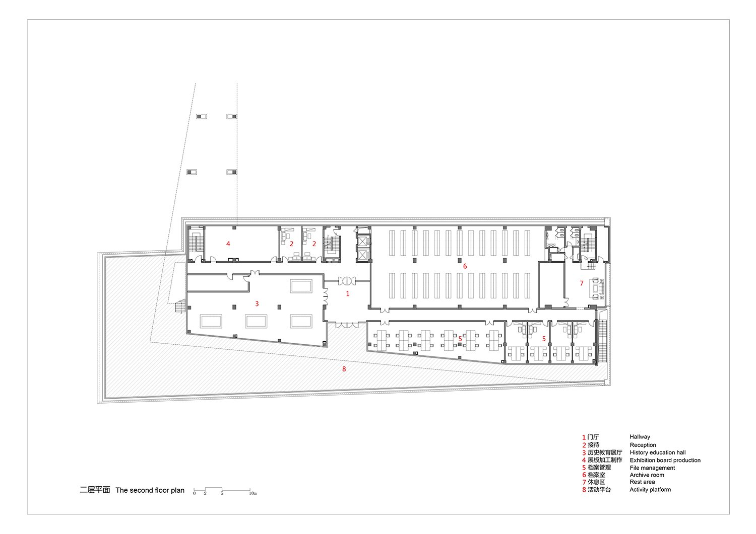 The-second-floor-plan the Architectural Design and Research Institute of Zhejiang University Co., Ltd}