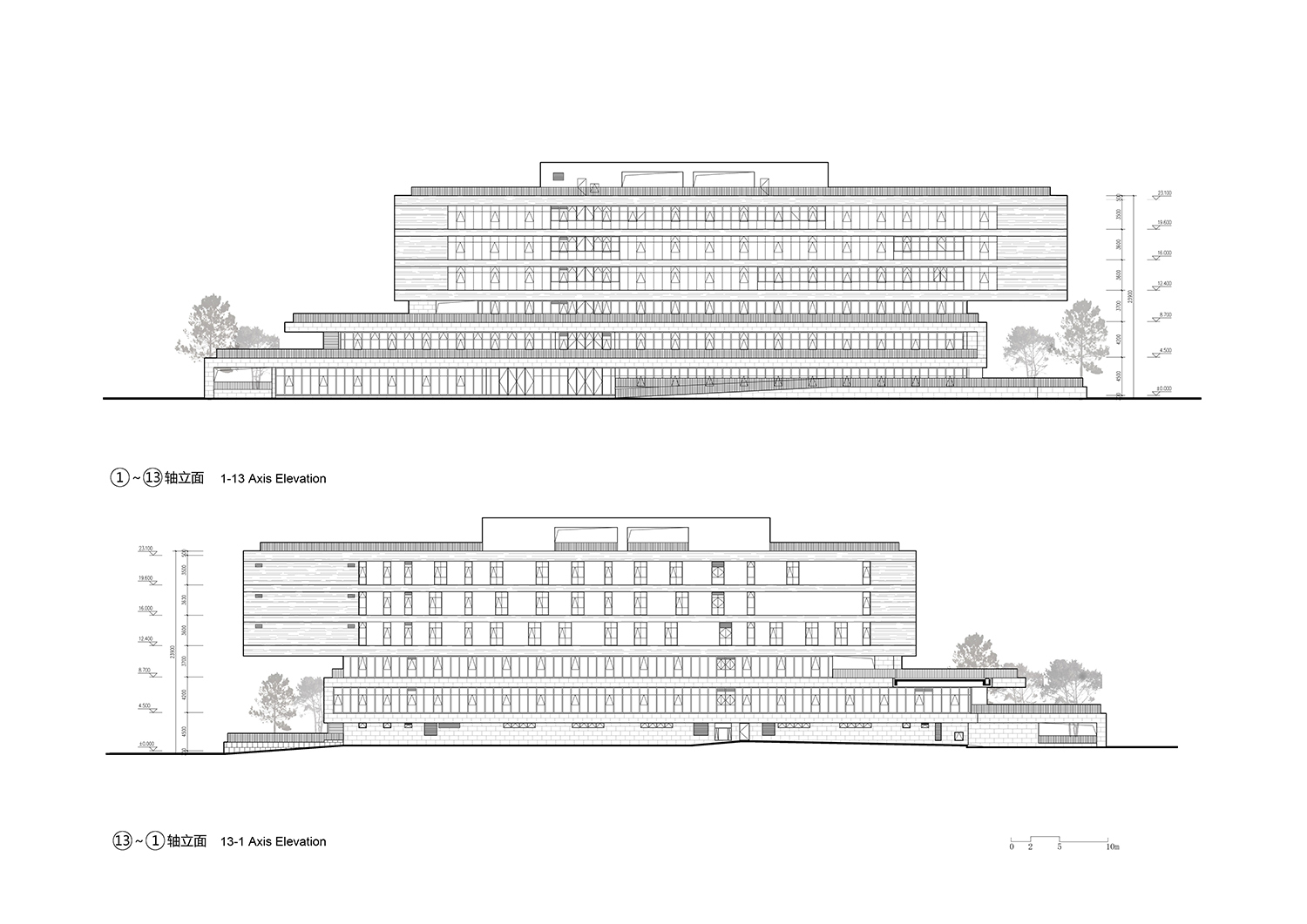 Elevation the Architectural Design and Research Institute of Zhejiang University Co., Ltd}