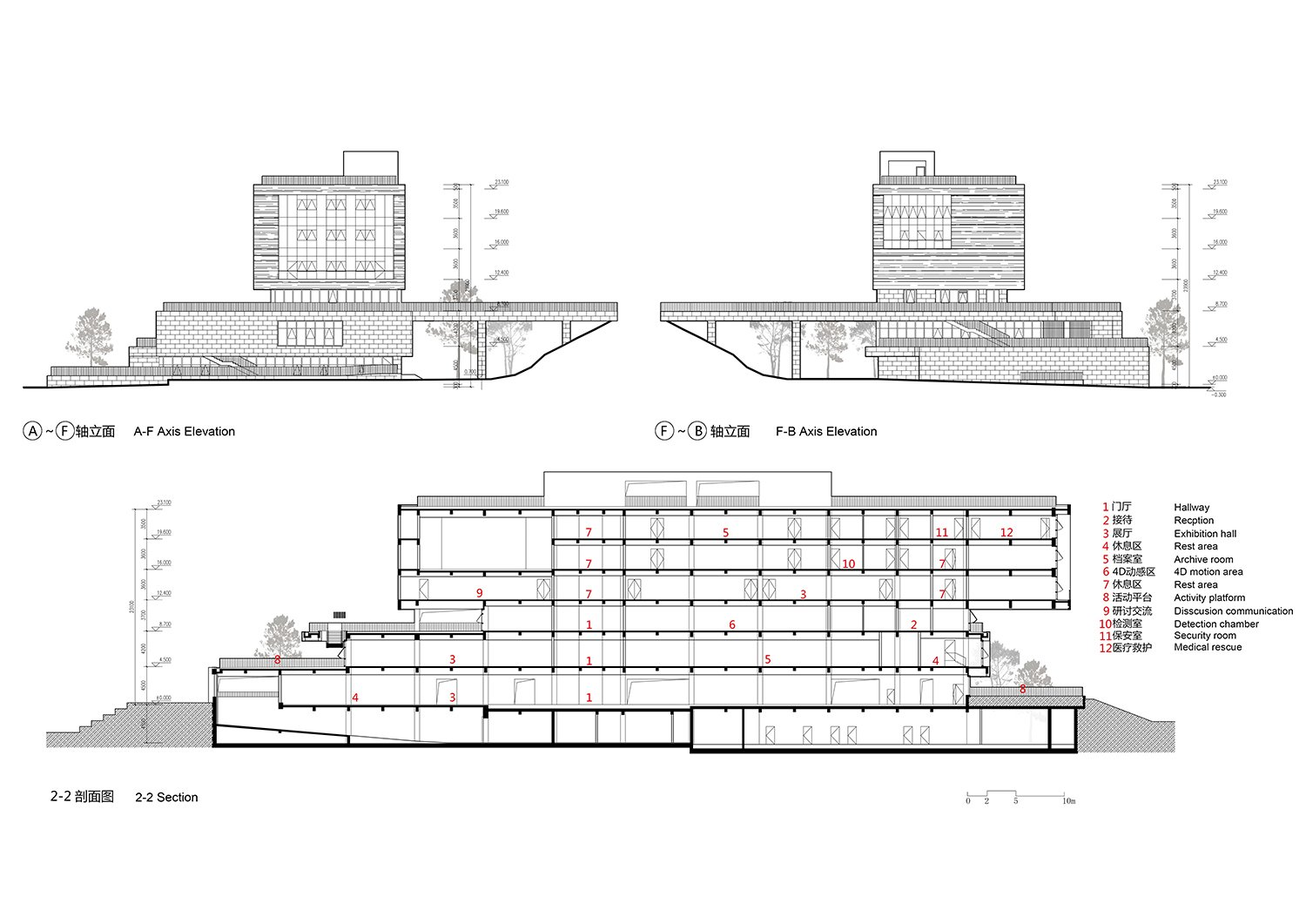 Elevations-and-sections the Architectural Design and Research Institute of Zhejiang University Co., Ltd}