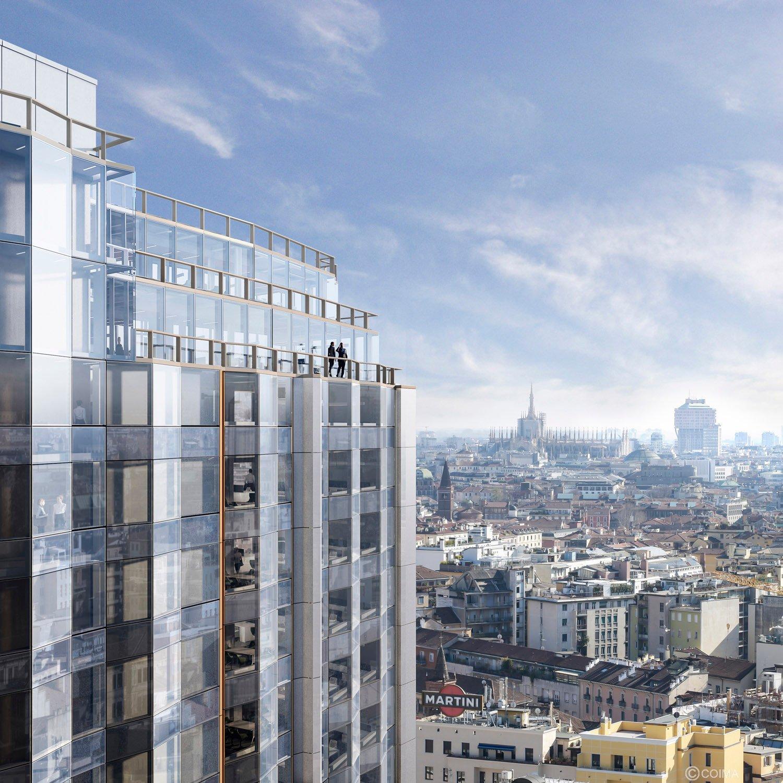 Fotoinserimento sullo skyline di Milano COIMA}