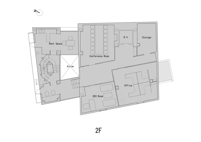 2nd Floor Plan ©KTX archiLAB}