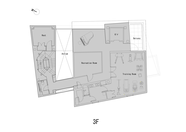 3rd Floor Plan ©KTX archiLAB}