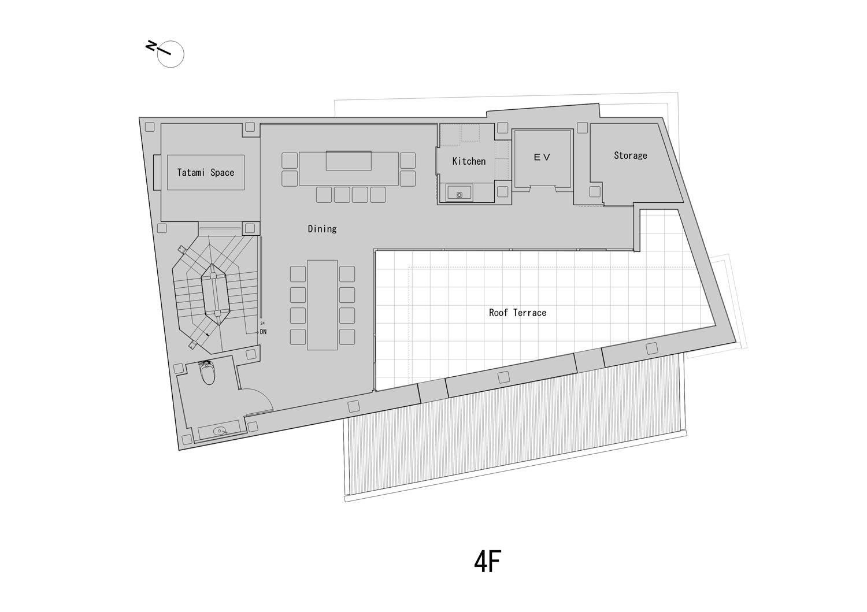 4th Floor Plan ©KTX archiLAB}