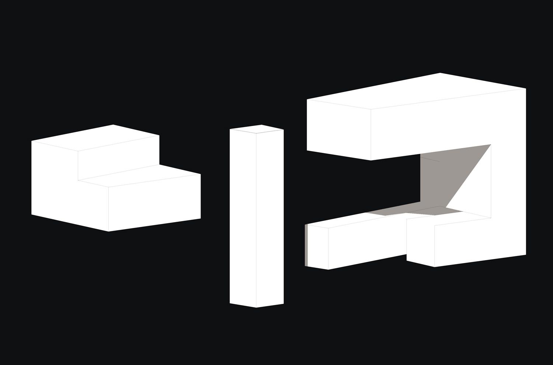 The three Cuboids ©KTX archiLAB}