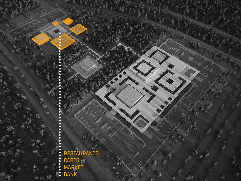 OIZ Office 3D Diagram Yazgan Design Architecture}