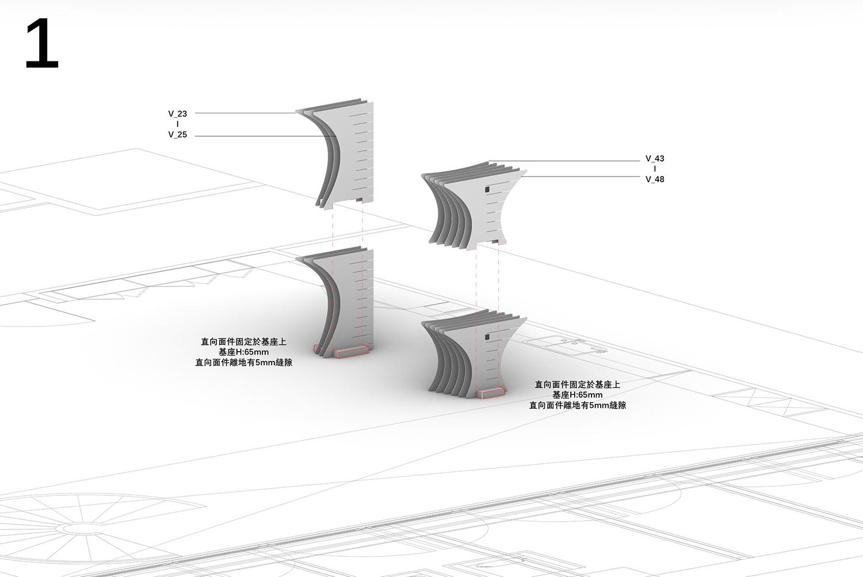 Desk using 3D calculations 9Studio Design Group}