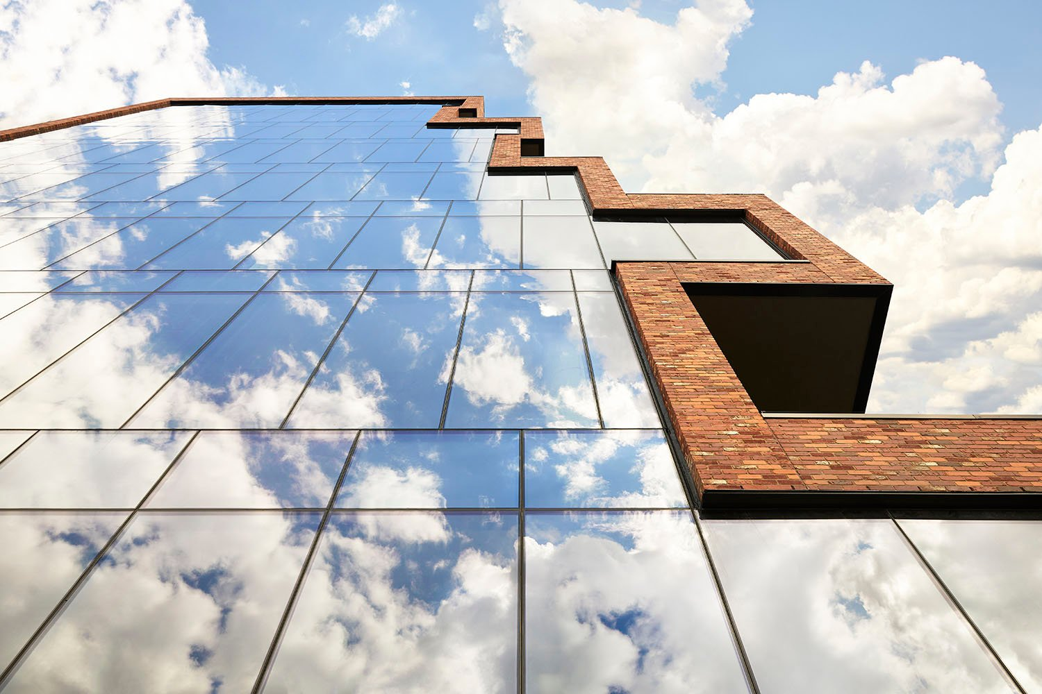Exterior windows cloud reflection Ty Cole