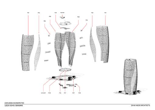 Exploded Diagram © Zaha Hadid Architects}